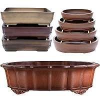 Bonsai pots handmade unglaced