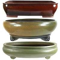 Bonsai pots handmade glaced