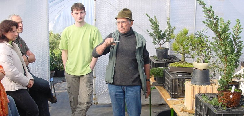 Bonsai Wkshop mit Host Krekeler 2004 in Mockrehna